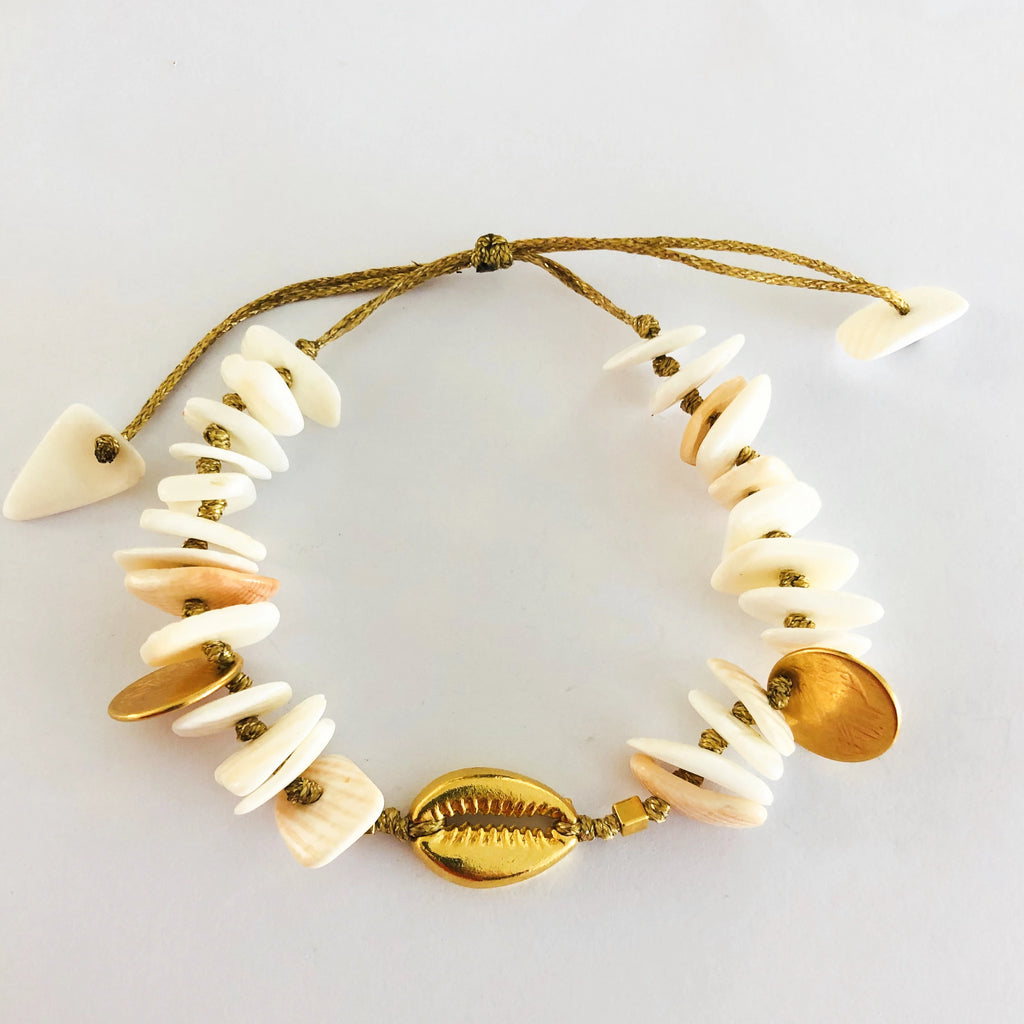 Shell & Coin Anklet