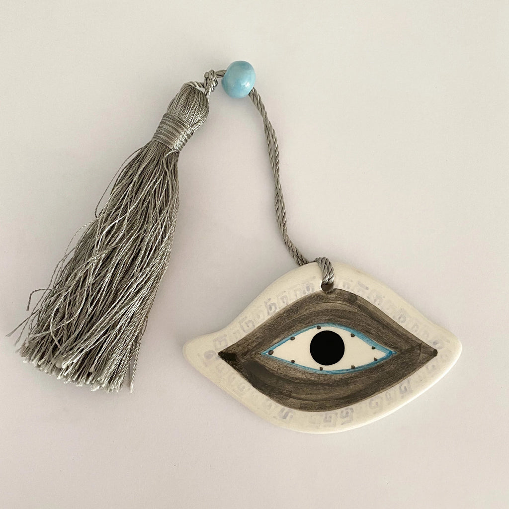 Small Mati Ceramic House Charm 6