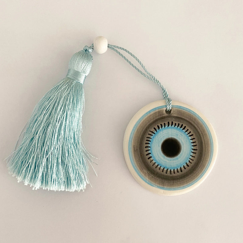 Small Eye Ceramic House Charm 50