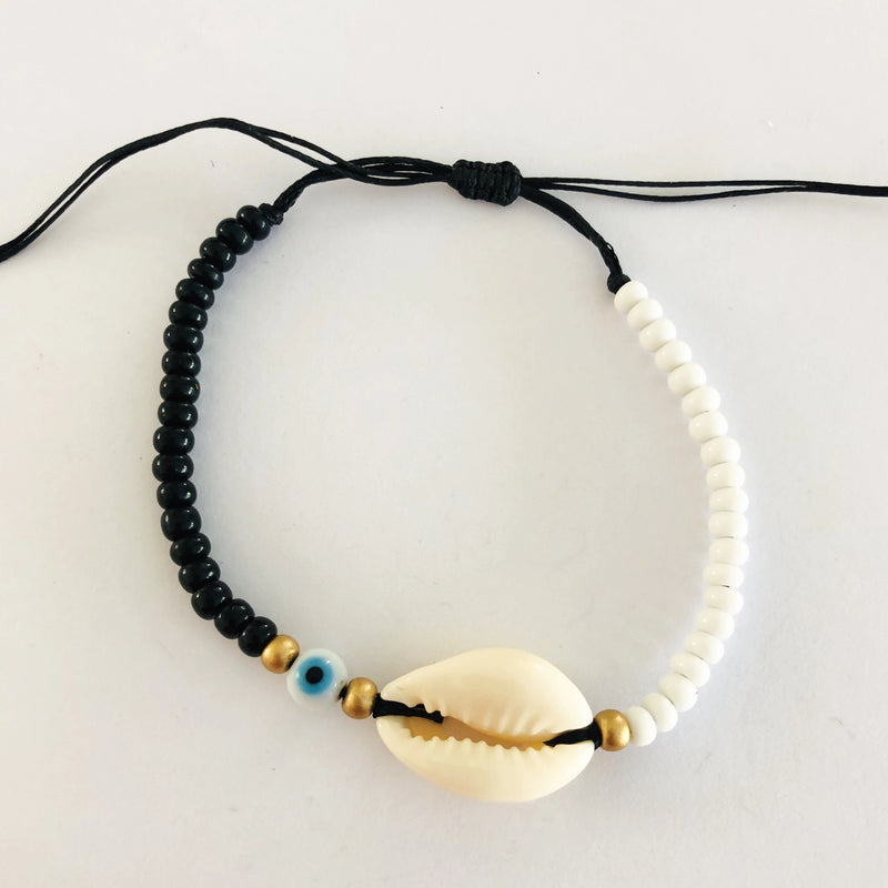 Black & White Shell Anklet