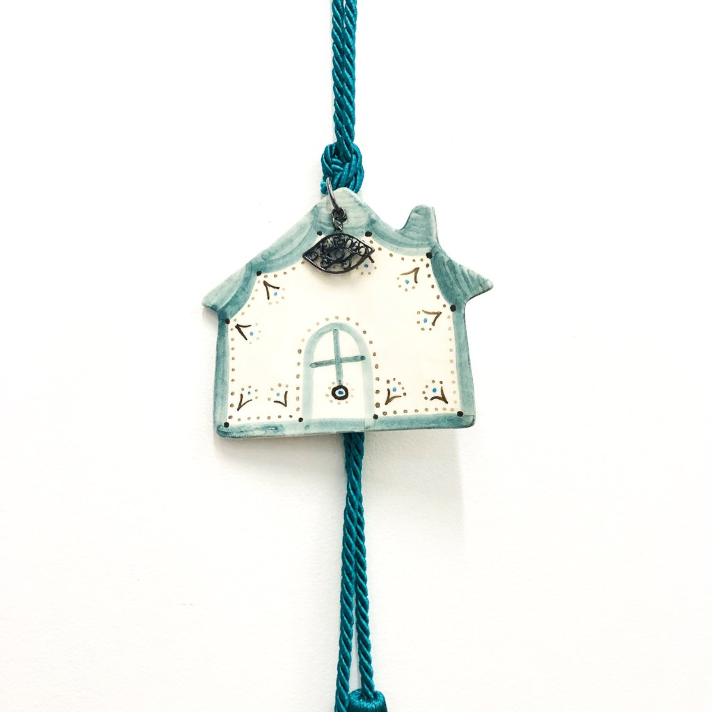 House Eye Ceramic House Charm 13