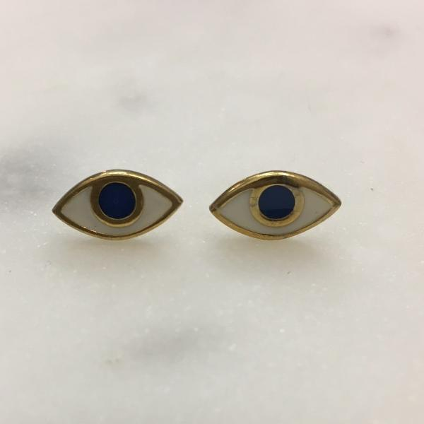 Blue Evil Eye Earrings