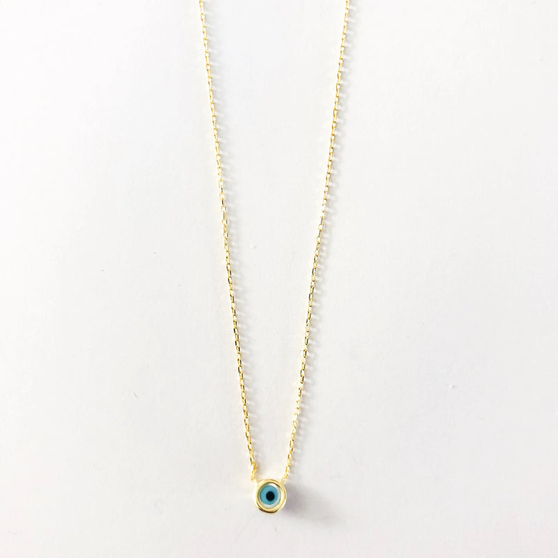 Small Circle Eye Necklace - Gold