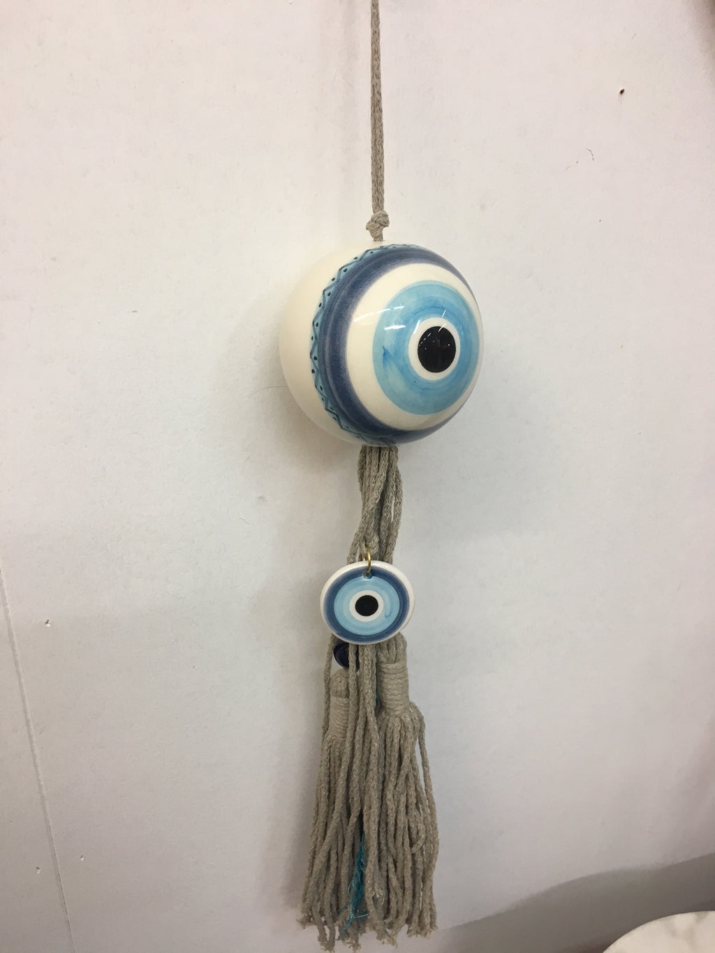 Hanging Decorative Ball with Hand Painted Eye