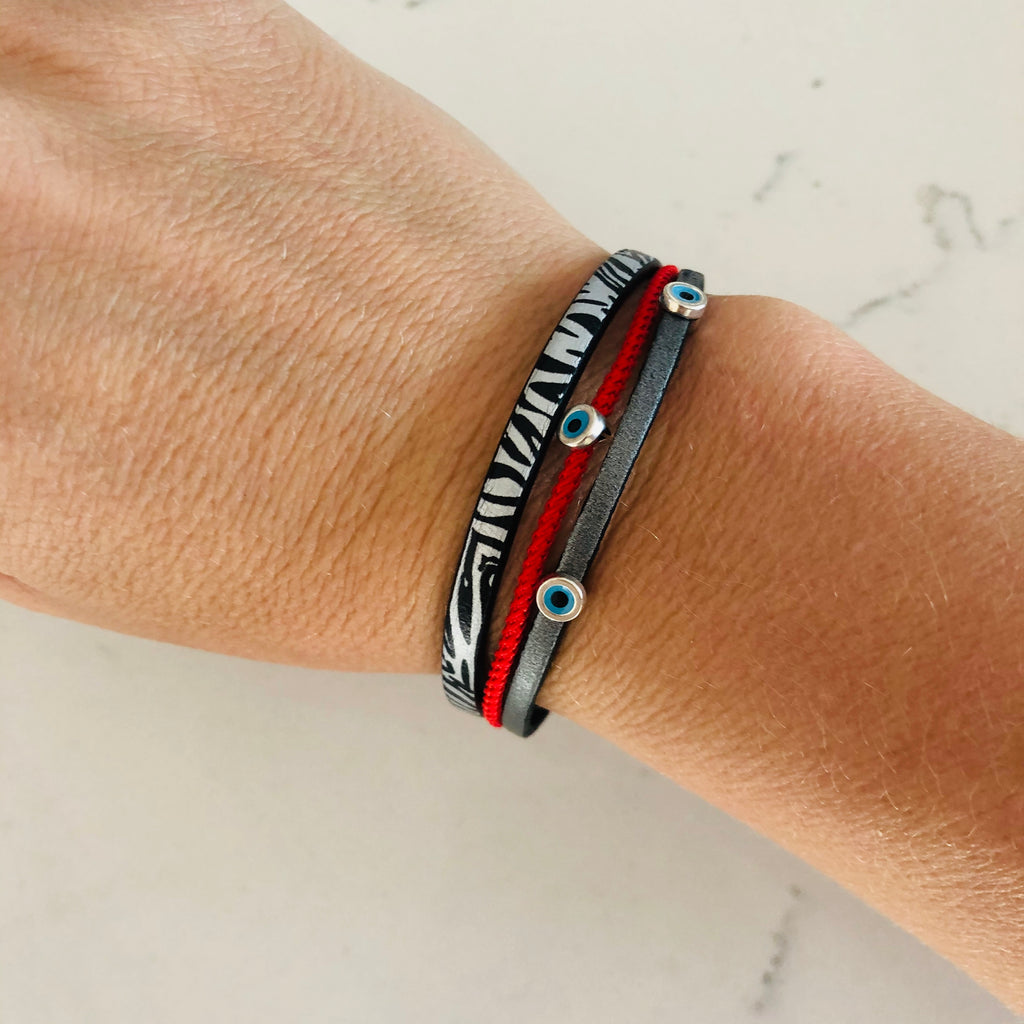 Leather Band Mati Bracelet 2