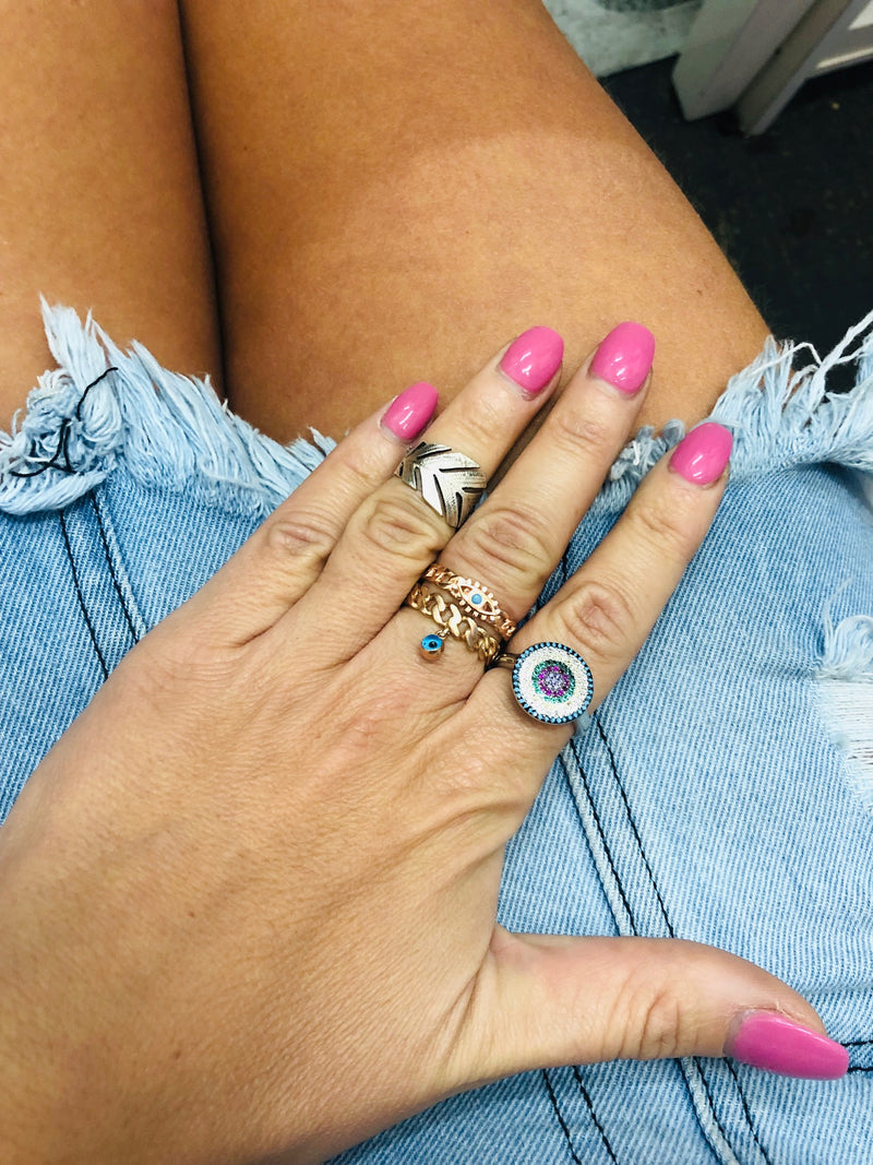 Chain Eye Ring