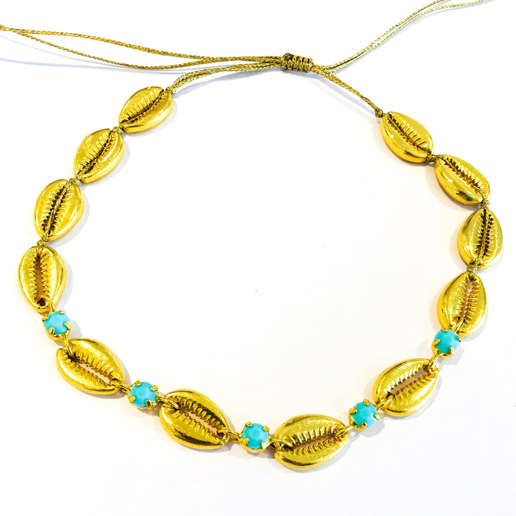 Cowrie Shell Gold Chocker