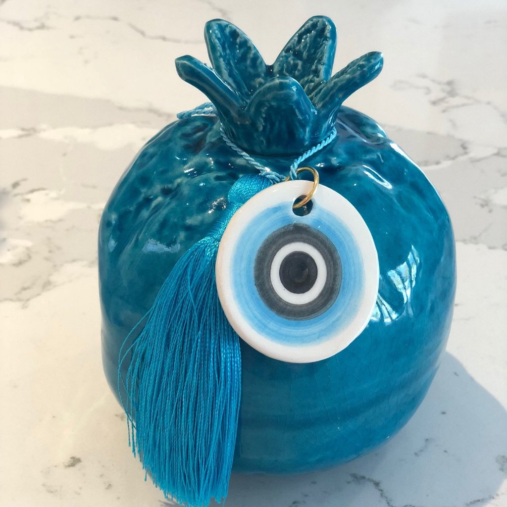 Blue Pomegranate with Eye