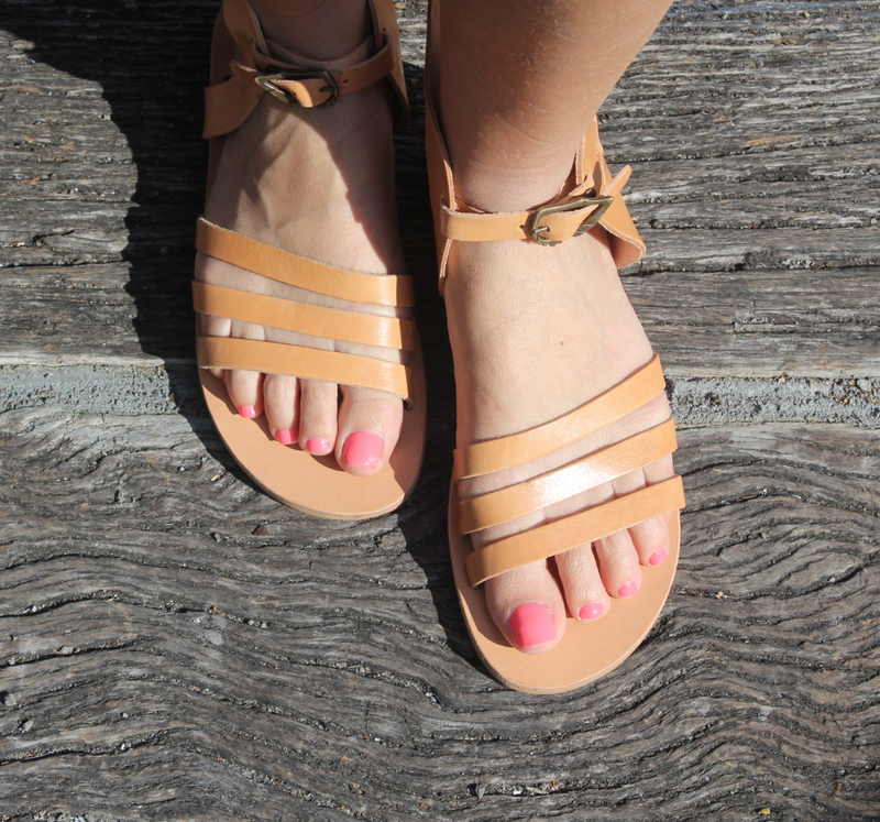 Athena Sandals Tan Size 42