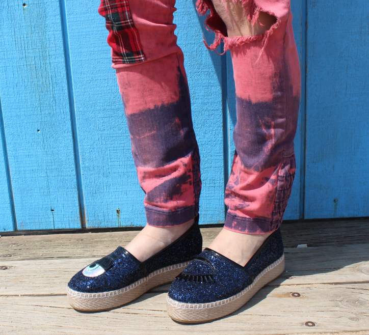 Black Ithica Eye Espadrilles