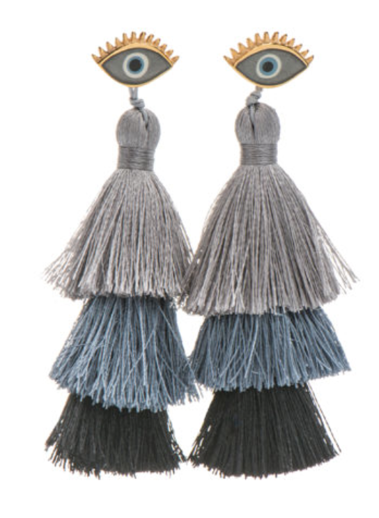 Tassel Eye Earrings