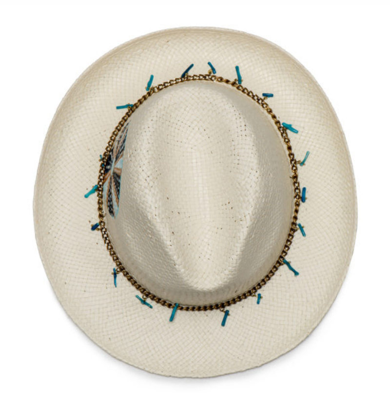 Circle Jeweled Straw Hat