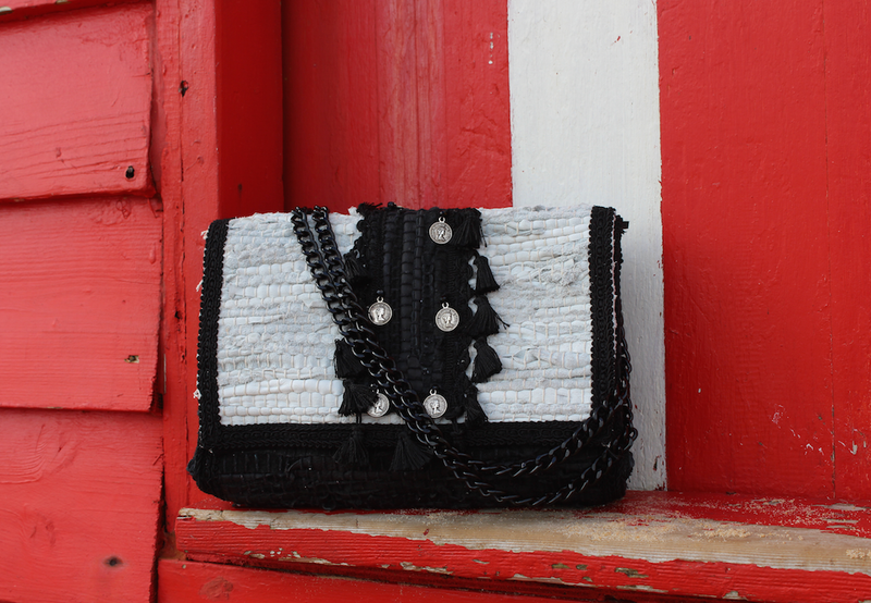 Koa Leather Kourelou Bag White/Black
