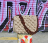 Bubble Crochet Bag - Taupe