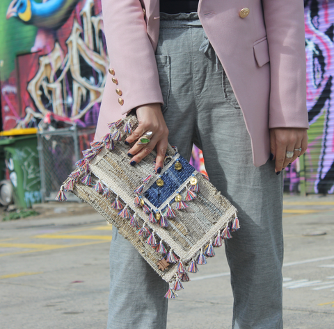 Hot Pink Kourelou Clutch