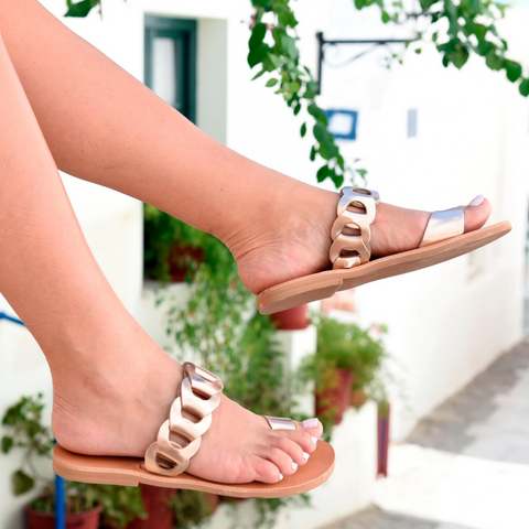 Maia Sandals Tan/Black