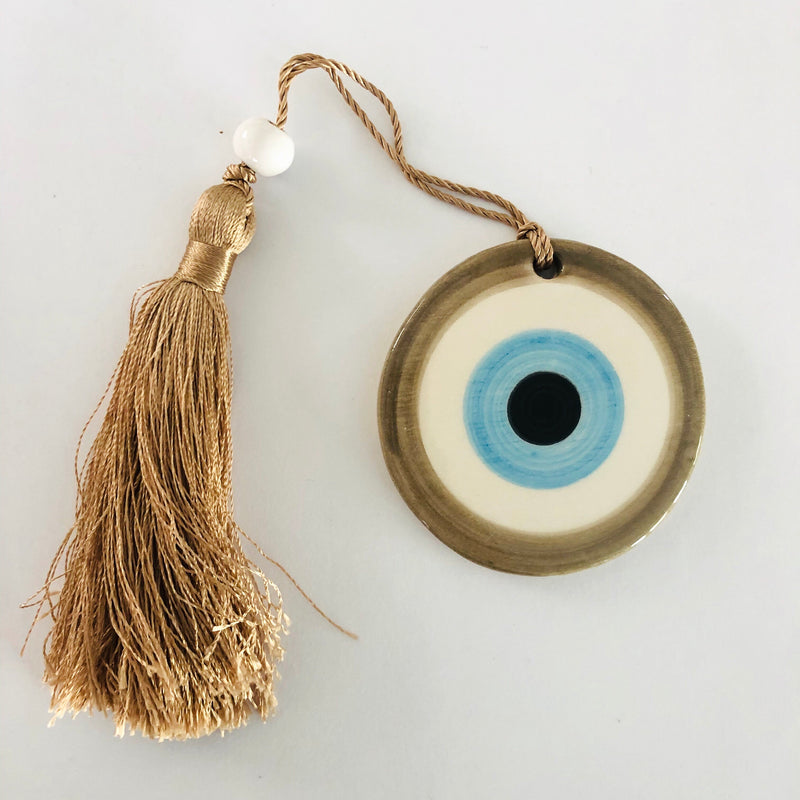 Small Eye Ceramic House Charm 49