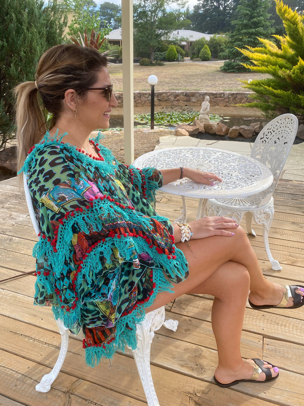 Sorrento Aqua Blouse