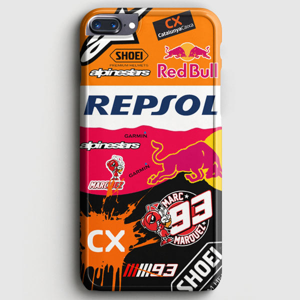Marc Marquez Sticker Bomb Honda Catalunya Caixa Repsol iPhone 7 Plus Case