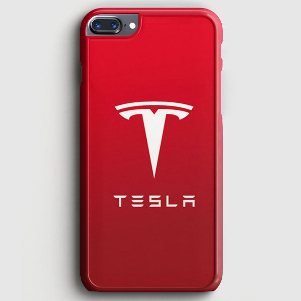 Tesla Motors Brushed Metal Logo iPhone 7 Plus Case