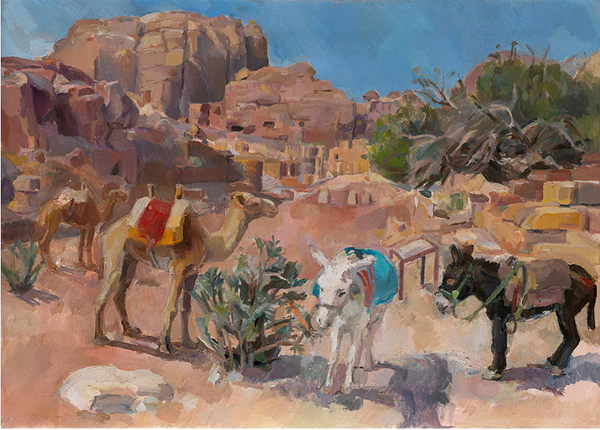 Lot 1D: To the Roman Colonnade, Petra Jordan, Natasha Lien