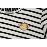 DooDooMooky Maternity & Nursing Dress Black & White Stripe
