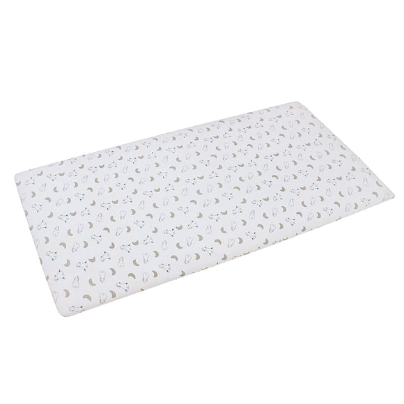 Mattress Sheet White Small Moon & Sheepz