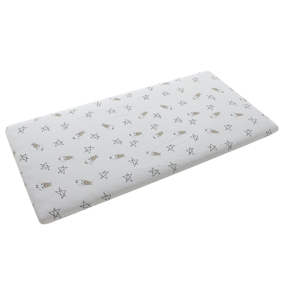 Mattress Sheet Big Star & Sheepz White