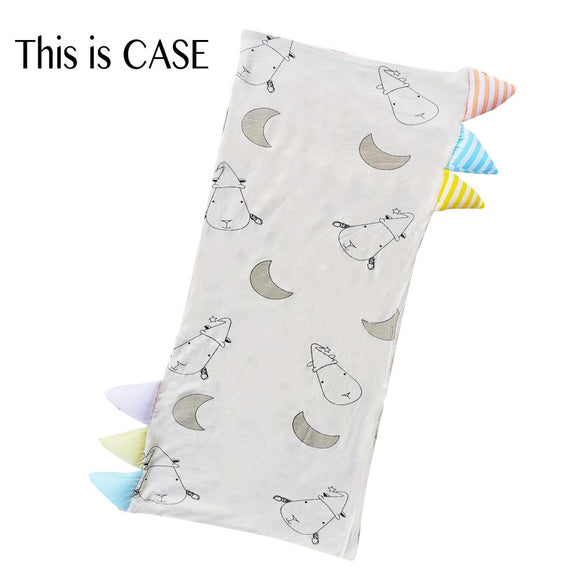 Bed-Time Buddy™ Case Big Moon & Sheepz Yellow with Color & Stripe tag - Medium