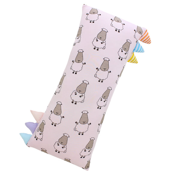 Bed-Time Buddy™ Big Sheepz Pink with Color & Stripe tag - Jumbo