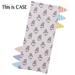Bed-Time Buddy™ Case Small Sheepz Pink with Color & Stripe tag - Jumbo