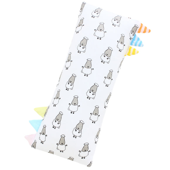 Bed-Time Buddy™ Small Sheepz White with Color & Stripe tag - Small