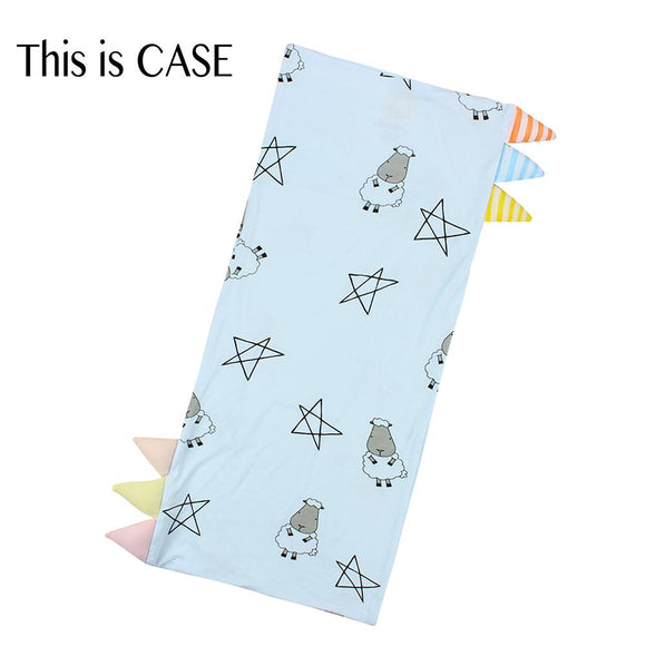 Bed-Time Buddy Case Big Star & Sheepz Blue with Color & Stripe tag - Jumbo