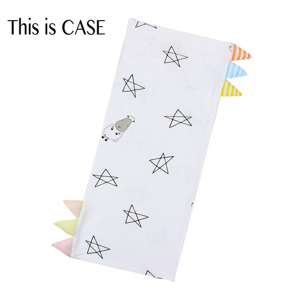 Bed-Time Buddy™ Case Big Star & Sheepz White with Color & Stripe tag - Jumbo