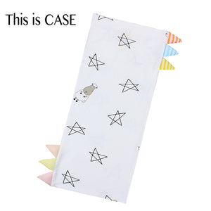 Bed-Time Buddy Case Big Star & Sheepz White with Color & Stripe tag - Medium