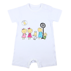 LIMITED EDITION - Romper Short Sleeve Bus Stop White