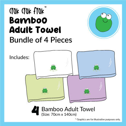 CrokCrokFrok Bamboo Adult Towel Bundle