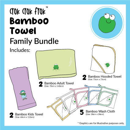 CrokCrokFrok Bamboo Towel Family Bundle