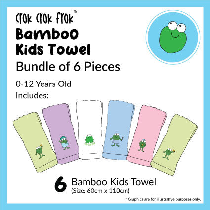 CrokCrokFrok Bamboo Kids Towel Bundle