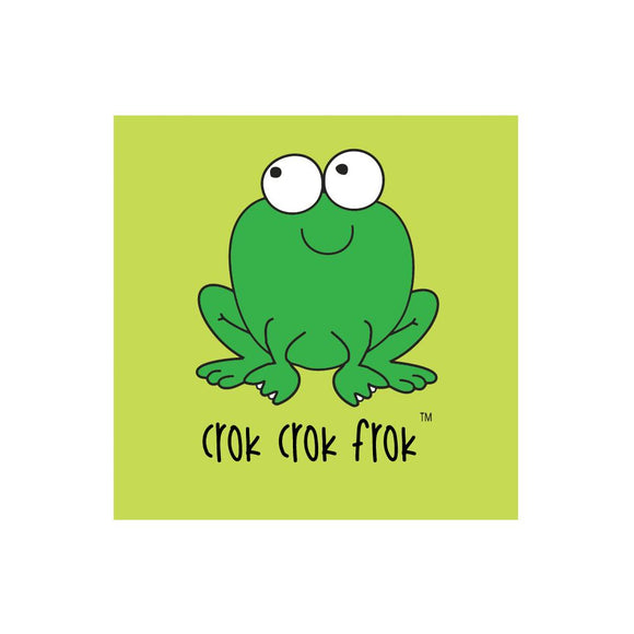 Greetings Card - Crok Crok Frok Green