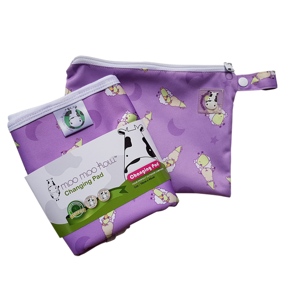 Changing Pad Travel Size BaaBaaSheepz Purple