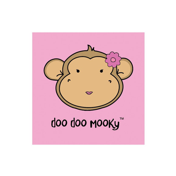 Greetings Card - Doo Doo Mooky Pink