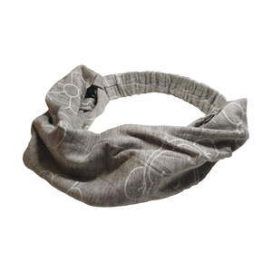 DooDooMooky - Hair Band - Mooky Flower Grey - Wide