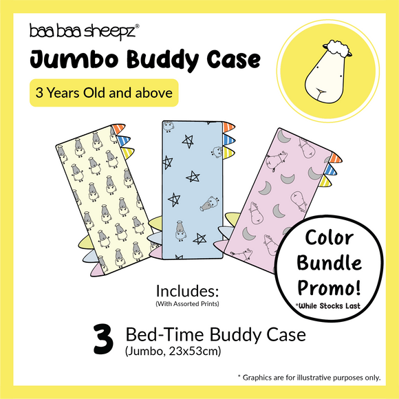 Jumbo Bed-Time™ Buddy Case Bundle of 3