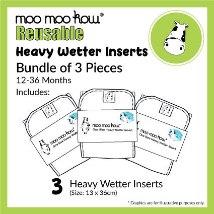 One Size Microfibre Insert - 3 Pack Deal