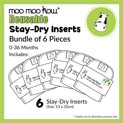 Stay-Dry Inserts - Bundle of 6 Pieces