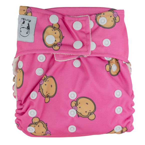 BAMBOO Cloth Diaper One Size Snap - Lucky Mooky