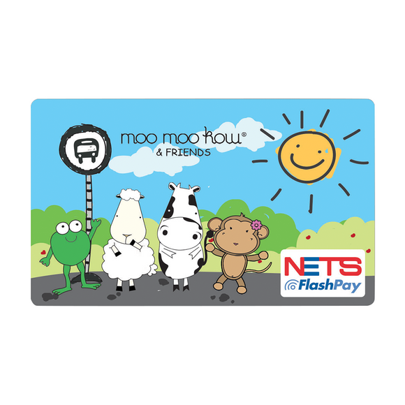 NETS Flashpay Card - Moo Moo Kow & Friends - Bus Stop