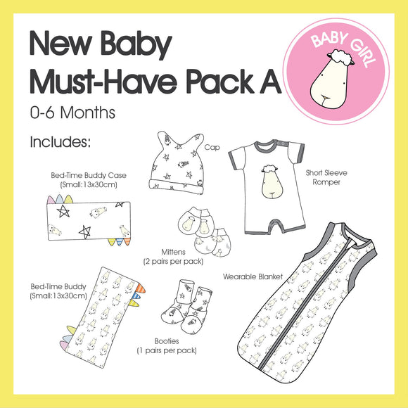 New Baby Must-Have Pack A (Girl Colour)