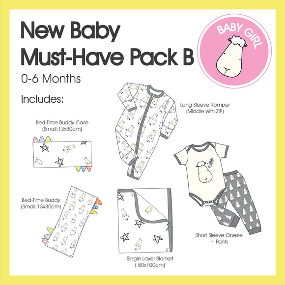 New Baby Must-Have Pack B (Girl Colour)